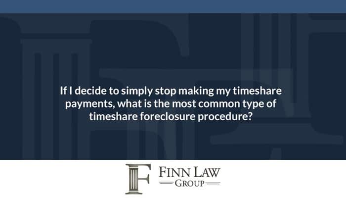 Timeshare Foreclosure